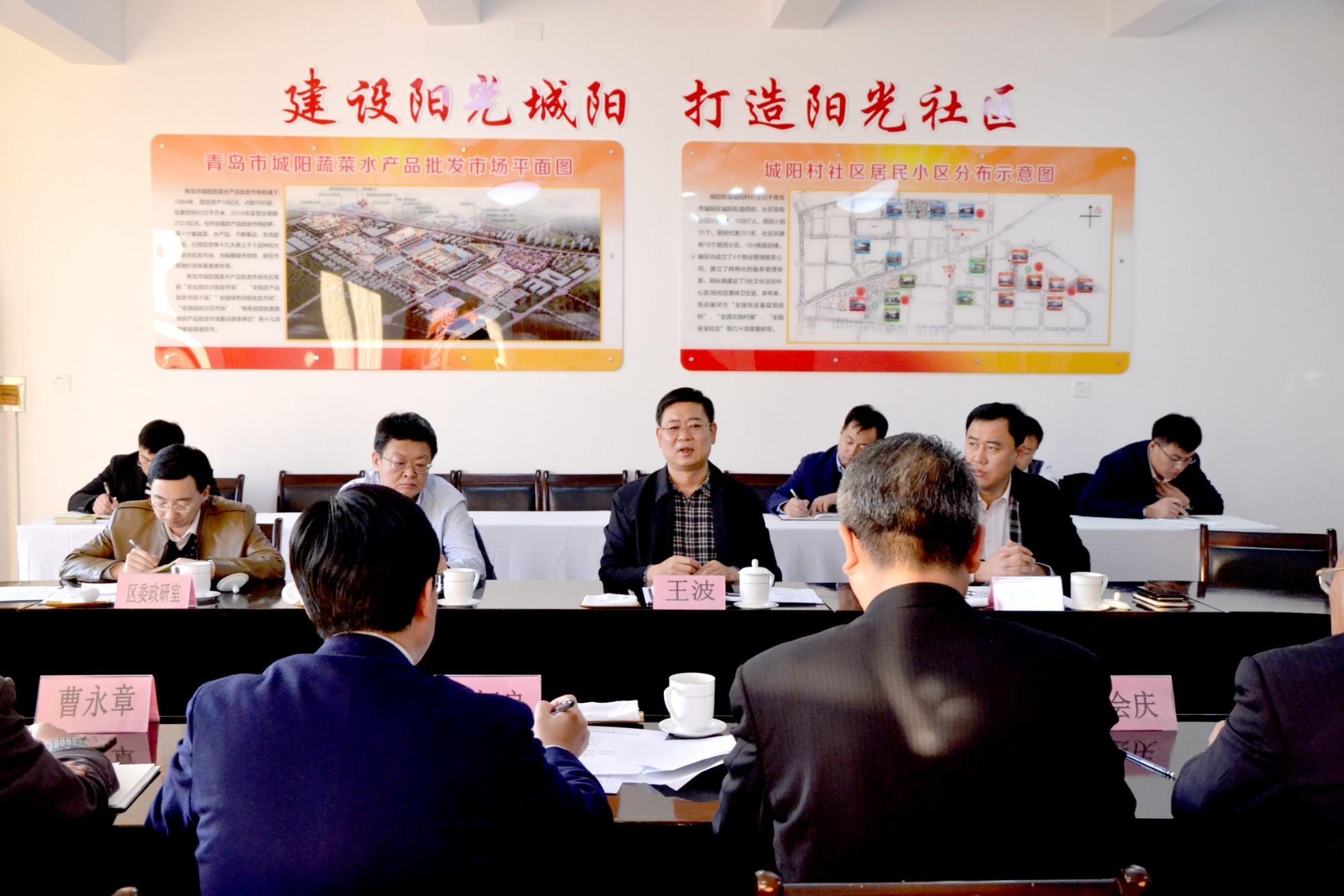 区委书记王波莅临社区调研平安社区建设工作