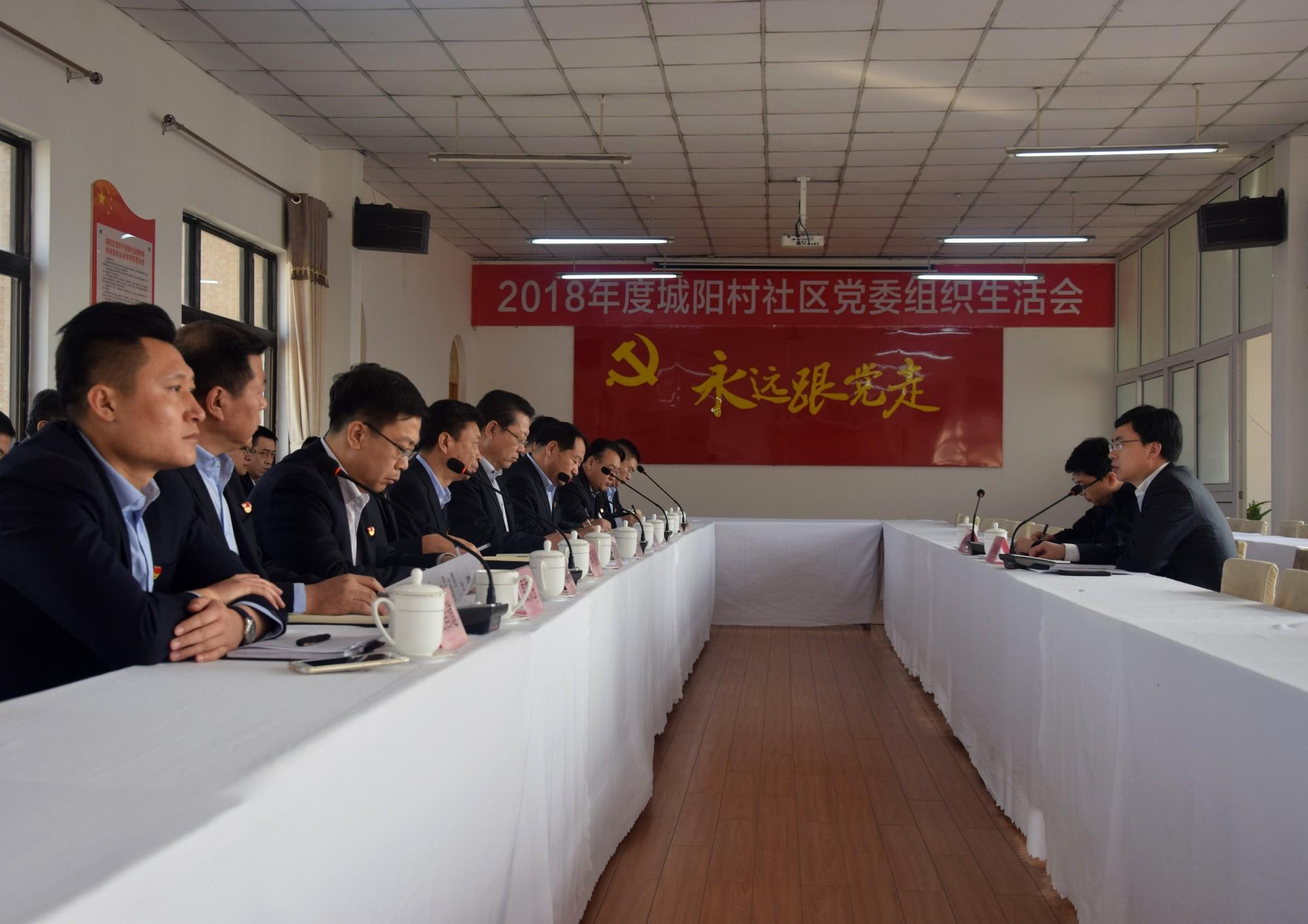 2018年度城阳村社区党委组织生活会召开